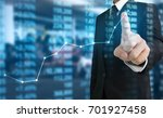 investment concept hand with... | Shutterstock . vector #701927458