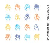 symbol human mind color thin... | Shutterstock .eps vector #701930776