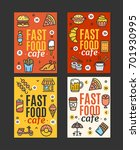 fastfood and street food flyer... | Shutterstock .eps vector #701930995
