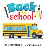 Back To School Sticker With Bu...