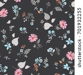 floral seamless pattern with... | Shutterstock .eps vector #701932255