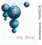 blue christmas toys  you... | Shutterstock .eps vector #70193278