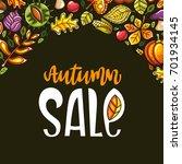 vector autumn harvest festival... | Shutterstock .eps vector #701934145