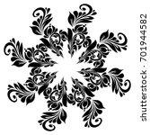 beautiful floral ornament... | Shutterstock . vector #701944582