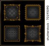 raster vintage frames gold... | Shutterstock . vector #70195090