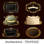raster vintage set. gold frames ...   Shutterstock . vector #70195102