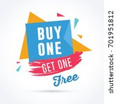 buy one get one free. discount  ... | Shutterstock .eps vector #701951812