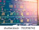 business graph and trade... | Shutterstock . vector #701958742