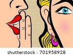 retro pop art style comic style ... | Shutterstock .eps vector #701958928