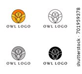 Stock vector owl logo vector 701959378
