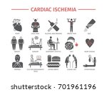 cardiac ischemia. symptoms ... | Shutterstock .eps vector #701961196