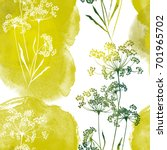 imprints herbarium   dry grass  ... | Shutterstock . vector #701965702