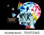 human head geometric colorful... | Shutterstock .eps vector #701972362