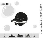 cap and glasses icon. | Shutterstock .eps vector #701974426