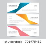 set of modern colorful business ... | Shutterstock .eps vector #701975452