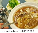 shark's fin soup  tasty chinese ... | Shutterstock . vector #701981656