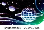 fantasy abstract technology and ... | Shutterstock . vector #701982436