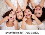 Group Women Lying On The Floor...