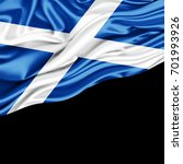scotland flag of silk with... | Shutterstock . vector #701993926