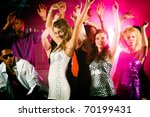 dance action in a disco club  ... | Shutterstock . vector #70199431