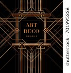 the great gatsby style vector ...   Shutterstock .eps vector #701995336