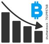 bitcoin recession bar chart... | Shutterstock .eps vector #701995768