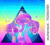 Magic Mushrooms Over Sacred...