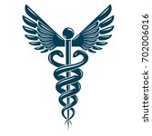 caduceus medical symbol ... | Shutterstock . vector #702006016