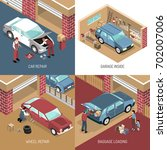 isometric design concept with... | Shutterstock .eps vector #702007006