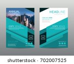 annual report brochure layout... | Shutterstock .eps vector #702007525