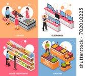 supermarket isometric concept... | Shutterstock .eps vector #702010225