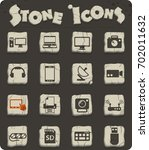 devices vector icons for web...   Shutterstock .eps vector #702011632