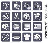 shopping icon set vector | Shutterstock .eps vector #702011656