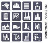 industry icon set vector | Shutterstock .eps vector #702011782