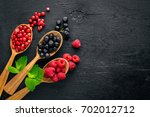 assortment of berries.... | Shutterstock . vector #702012712