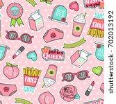 cute pastel girls fashion... | Shutterstock .eps vector #702013192