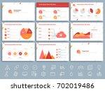 business presentation template... | Shutterstock .eps vector #702019486