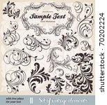 vector set  calligraphic design ... | Shutterstock .eps vector #70202224