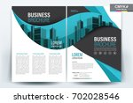 vector brochure layout  flyers... | Shutterstock .eps vector #702028546