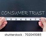 measuring consumer trust  | Shutterstock . vector #702045085