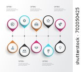 sun outline icons set.... | Shutterstock .eps vector #702050425