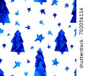 seamless pattern with stars ... | Shutterstock .eps vector #702056116