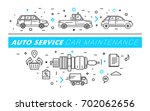 auto service contour line...   Shutterstock .eps vector #702062656