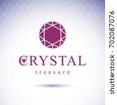 shining gemstone design element.... | Shutterstock . vector #702087076