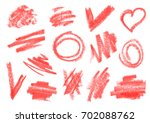 crayon  dry brush  lipstick... | Shutterstock .eps vector #702088762