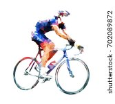cycling race  road cyclist in... | Shutterstock .eps vector #702089872