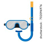 diving mask with snorkel flat...   Shutterstock .eps vector #702096976