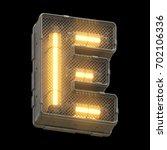 futuristic light font. 3d... | Shutterstock . vector #702106336
