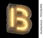 futuristic light font. 3d... | Shutterstock . vector #702106396