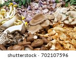 large selction of edible... | Shutterstock . vector #702107596